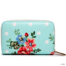 Miss Lulu London L1580F - Miss Lulu kicsi Oilcloth pénztárca Flower Polka Dot kék