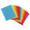 VIQUEL Regiszter, műanyag, A4 maxi, 12 részes, VIQUEL, Happy Fluo, színes (IV154731)