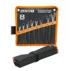 8 db-os kombinált villáskulcs készlet felakasztható poliészter tárolóval
