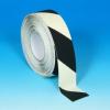 Csúszásgátló szalag Világító, Veszélyre figyelmeztető foszforeszkáló, fekete-fehér, 50mm x 18.3m