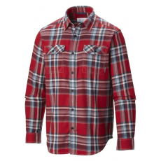 Columbia 1552151 Flare Gun Flannel III LS Shirt Ing D (AM8194-n_676-Red Hibiscus)