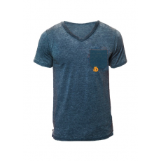 Fundango V neck T T-shirt D (1TK10227_416-Light Blue)