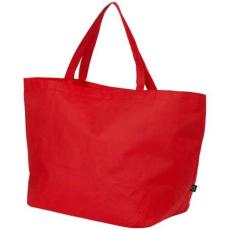 Maryville préselt bevásárlótáska, piros (Maryville préselt bevásárlótáska, 80 g/m2 préselt)