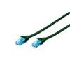 Digitus UTP CAT5e patch kábel 0,5 m (zöld)