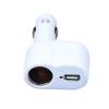 USB autós töltő 1+1 kivezetés