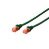 Digitus Premium CAT 6 UTP patch kábel  hossza: 1 0m   zöld DK-1612-010/G
