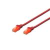 Digitus Premium CAT 6 UTP patch kábel  hossza: 0 5m  piros DK-1612-005/R