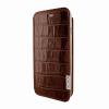 Piel Frama iPhone 6/6S Framaslim eredeti krokodilbőr tok, barna