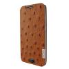 Piel Frama Samsung Galaxy S6 Edge Plus Framaslim eredeti struccbőr tok, barna
