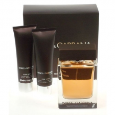 Dolce & Gabbana The One for Men Travel Gift Set (100ml EDT + 75ml after shave balzsam) férfi kozmetikai ajándékcsomag