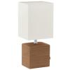 EGLO Asztali lámpa  E14 40W kerámia/barna textil/fehér bura 13x13x30cm Mataro EGLO