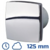 DEKOR ventilátor króm, LDATHL (125 mm) idők., páraérz., görd.