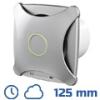 - Design ventilátor alu matt XTH (125 mm) időkapcs., páraérz.