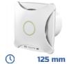 - Design ventilátor fehér XT (125 mm) időkapcsolós villanyszerelés