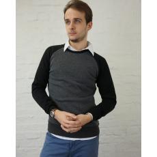 S méret Szürke-fekete férfi pulóver