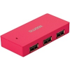 Sweex Paris 4 Port USB2.0 passzív hub, magenta