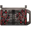 Kraftmann 9-részes T-fogós imbuszkulcs készlet     2x100 mm - 10x200 mm