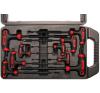Kraftmann 9-részes T-fogós imbuszkulcs készlet     2x100 mm - 10x200 mm imbuszkulcs