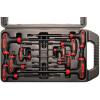 Kraftmann 8-részes T-fogós  T-profilú kulcs készlet    T10x145 mm - T50x280 mm