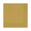 Duni szalvéta - 3 rétegű, 33x33, arany színben