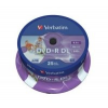 Verbatim DVD+R 8,5GB 8x, Double Layer Inkjet Printable, 25 db