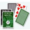Piatnik Plasztik póker kártya 1*55 lap barna/zöld