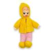 Retro lencsi baba sárga ruhában