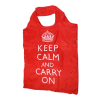 Piros Keep Calm clipbag