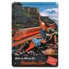 Vintage vasúti reklám fémtábla
