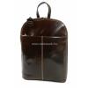 RIALTO rejtett előzsebes barna bőr divathátizsák TARW163327/MO-08