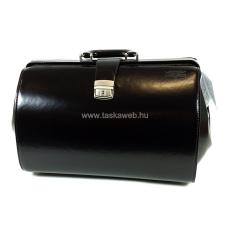 BLÁZEK&ANNI Nagy méretű, nyelves, fekete bőr orvosi táska 961HF