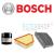 Bosch Audi A4, A5 1.8-2.0 TFSi szűrőszett BOSCH + Castrol Edge 5w30 5 L