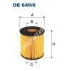Filtron OE649/6 Filron olajszűrő