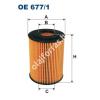 Filtron OE677/1 Filron olajszűrő
