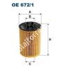 Filtron OE672/1 Filron olajszűrő