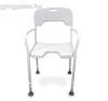 Zuhanyzó szék , karfával, háttámlával DSR130 gyógyászati segédeszköz