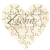 Szív alakú puzzle- egyedi nevekkel