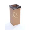 """ÖKUKA Szelektív hulladékgyűjtő, újrahasznosított, angol felirat, 60 l, RECOBIN """"Slim"""", fekete"""