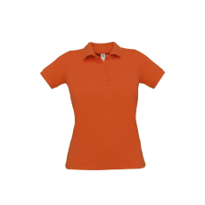 B&C B&C Safran Női pamut piké póló, narancs