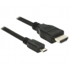 DELOCK MHL 3.0 dugó - High Speed HDMI-A dugó 4K kábel - 5m (83651)