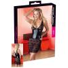 Cottelli - Virágos csipke ruha (fekete) (XL)