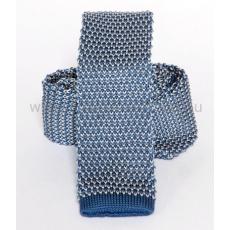 Prémium kötött nyakkendõ - Kék-fehér