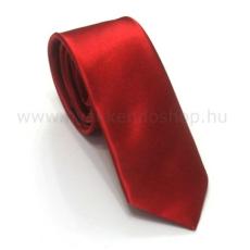 Szatén slim nyakkendõ - Piros