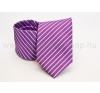 Rossini Prémium nyakkendõ - Lila-fehér csíkos nyakkendő