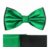 Gyerek szatén csokornyakkendõ - Fekete-zöld nyakkendő