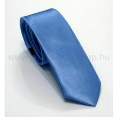Szatén slim nyakkendõ - Kék