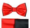 Gyerek szatén csokornyakkendõ - Fekete-piros nyakkendő