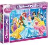 Clementoni Puzzle 104 db Disney Hercegnők Csillogó puzzle, kirakós