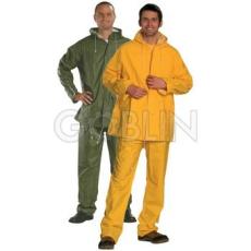 Coverguard PVC esõruha, sav- és lúgálló, kapucnis (zöld változat)