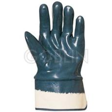 Euro Protection Herkules kétszer, kézháton is mártott kék nitril kesztyû merev mandzsettával,...